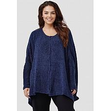 AMANDINE Oversized Knitted Sweater NAYVY