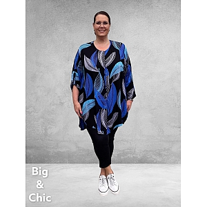 ANGEL CIRCLE  Blouse High-Low BLAUW BLAADJES