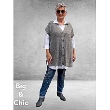 CISO Vest/Spencer  Gebreid GREY