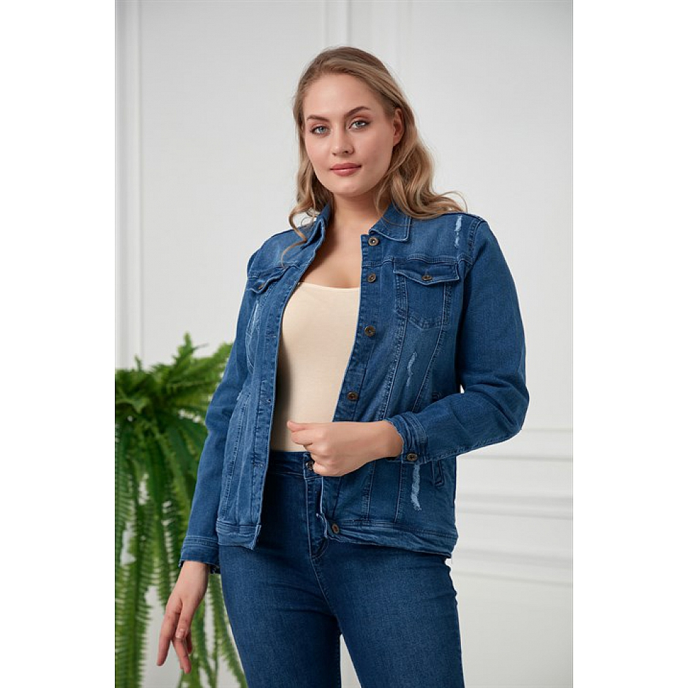 Big en Chic JEANS JACKET Destroyed