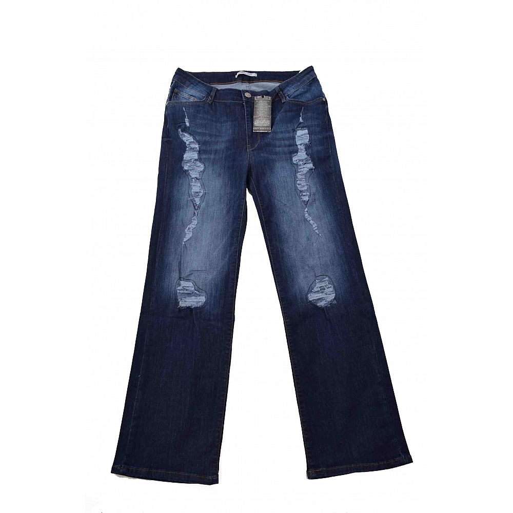MAT. Jeans Destroyed Hoge Taille