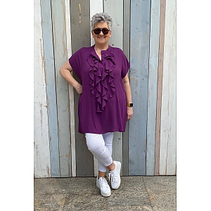 Only-M Blouse/Tuniek Roezel Magenta/Lila   Zonder Mouw
