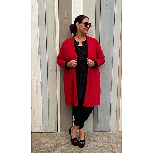 Only-M Cardigan-Vest Rosso/ Rood