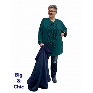 Only-M Blouse/Tuniek Roezel Forrest Green