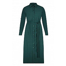 Plus Basics Travel Long  Blouse-Dress Bottle Green